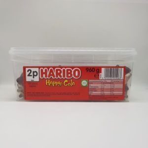 Haribo cola bottles tub