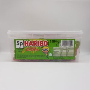 Haribo fizzy cherries tub