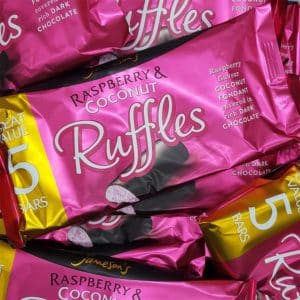 raspberry ruffle bar