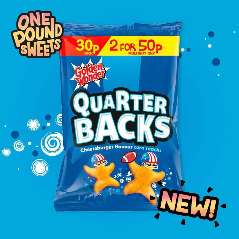 Quarter Backs Cheeseburger Flavour 25g x4