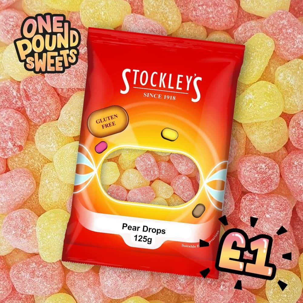Stockleys Pear Drops 125g